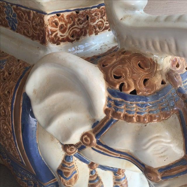 Chinoiserie Ceramic Elephant Garden Stool - Image 4 of 7