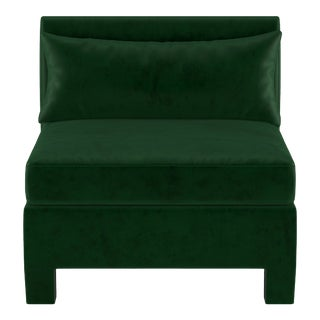 Armless Chair, Fauxmo Emerald For Sale