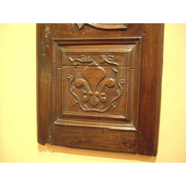 18th C. French Provincial Wood Carved Door Panel For Sale - Image 4 of 8