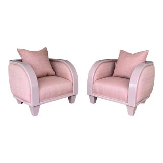 1980s Vintage Lounge Chairs- A Pair For Sale