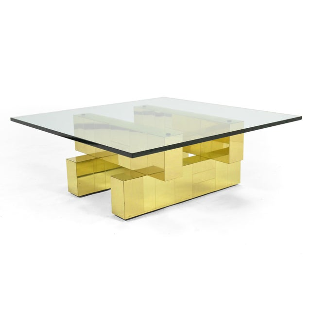 Metal Paul Evans Cityscape Coffee Table by Directional For Sale - Image 7 of 11