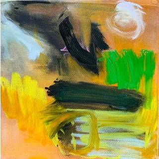 """""""Goodnight Moon"""" by Trixie Pitts Abstract Expressionist Oil Painting For Sale"""