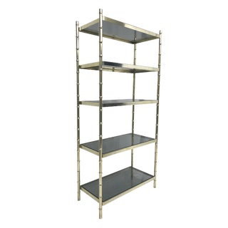 1960s Hollywood Regency Faux Bamboo Etagere For Sale