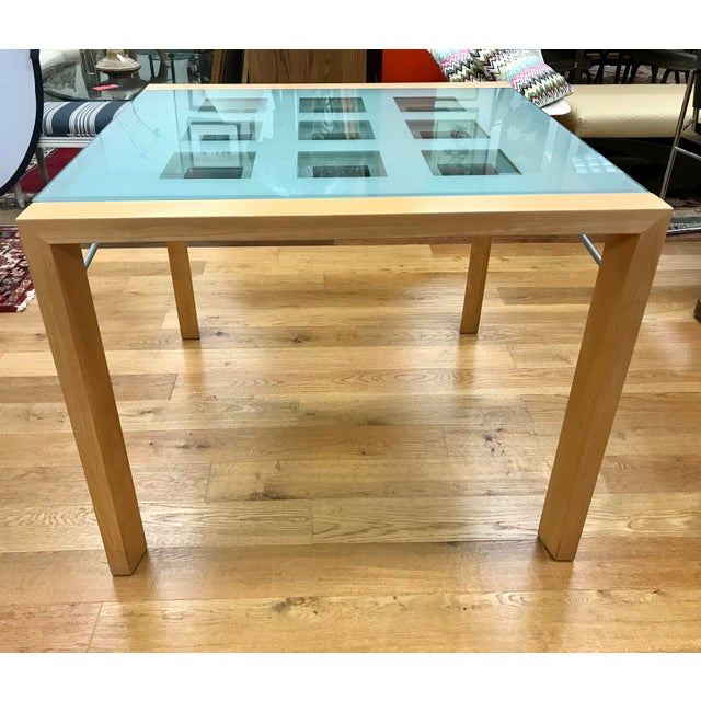 Beech 1990s Modern Ligne Roset Expandable Extensia Glass Dining Table For Sale - Image 7 of 7