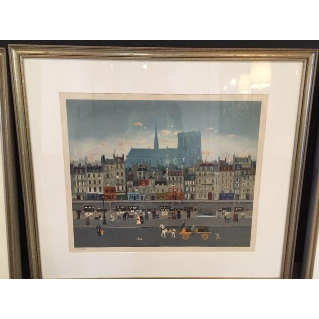 Folk Art Michel Delacroix Lithograph For Sale - Image 3 of 3
