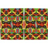 Image of Pair of Edward Fields 1972 Colorful Geometric 6' X 8' Rugs For Sale