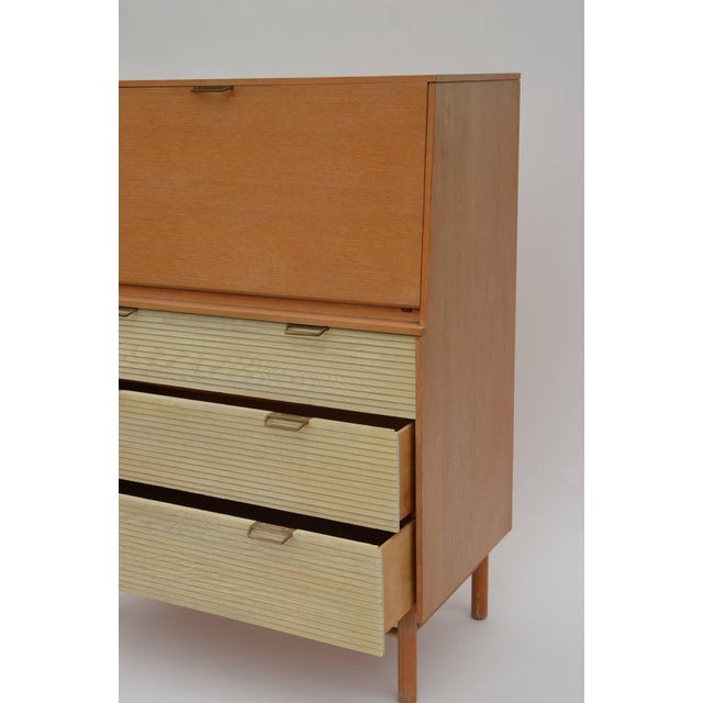 Wood Pristine Mid-Century Secretary Cabinet by Raymond Loewy for Mengel For Sale - Image 7 of 8