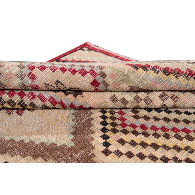 Vintage Turkish Scatter Wool Rug 4 X 7 For Sale In New York - Image 6 of 13