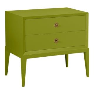 Casa Cosima Hayes 2-Drawer Side Chest, Dark Celery For Sale