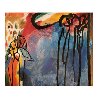"""1990 Wassily Kandisnsky """"Improvisation 19"""", Large First Edition Abstract Poster For Sale"""