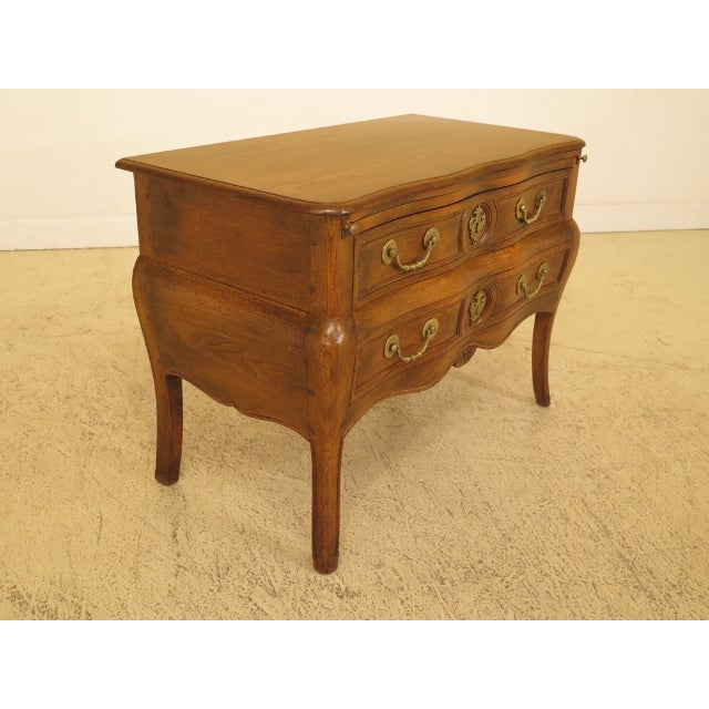 Italian Vintage Italian 2 Drawer Walnut Commode Chest For Sale - Image 3 of 13