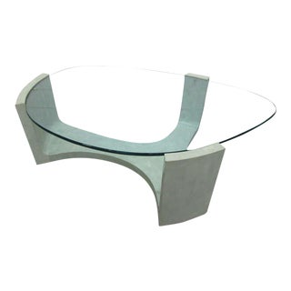 Italian Organic Shaped Coffee Table For Sale