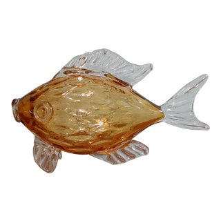 Mid-Century Modern Vintage Murano Glass Fish For Sale