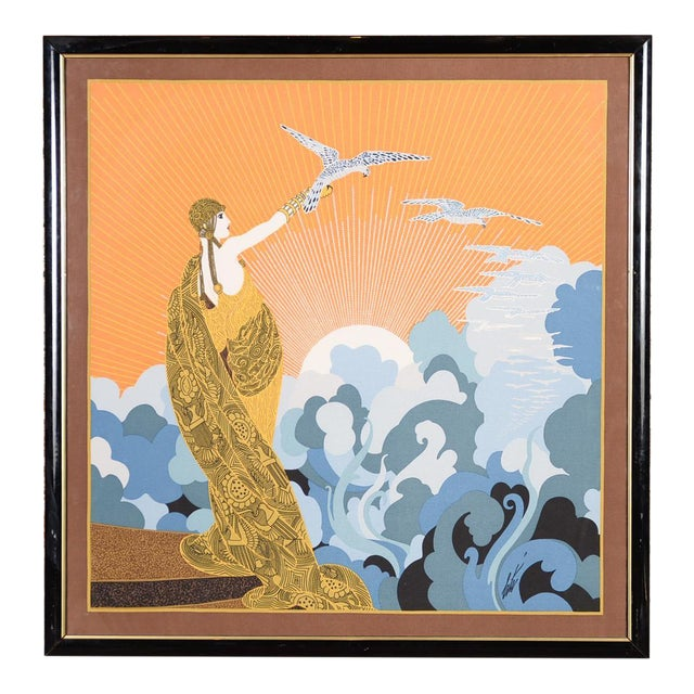Erte Art Deco Serigraph-Wing of Victory For Sale