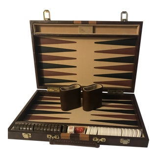 Mid Century Modern Backgammon Breifcase Game Board For Sale