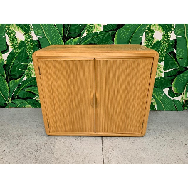 Split Reed Rattan Wall Unit in the Manner of Gabriella Crespi For Sale - Image 12 of 13