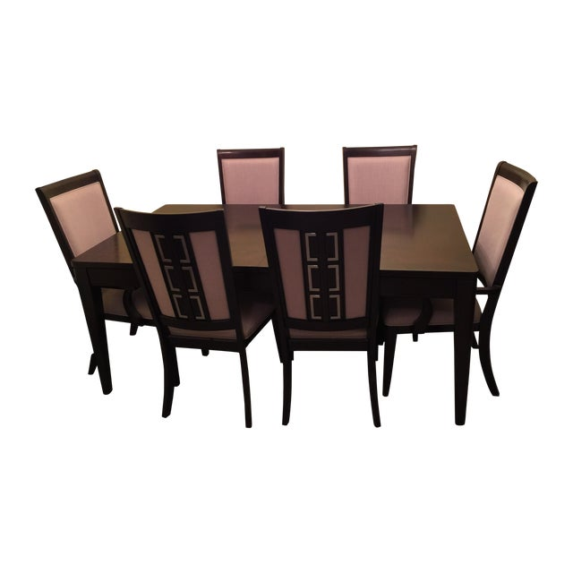 Raymour & Flanigan Cadence Dining Set - S/7