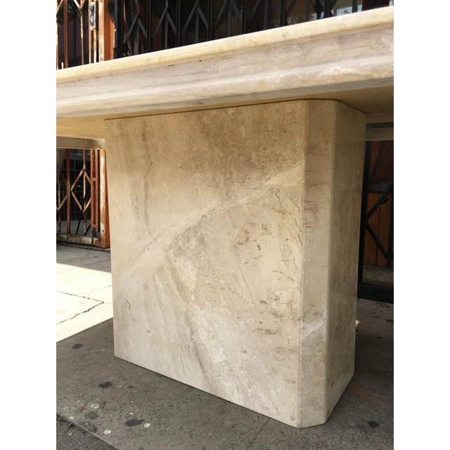 1960s Italian Travertine Dining Table For Sale - Image 12 of 13