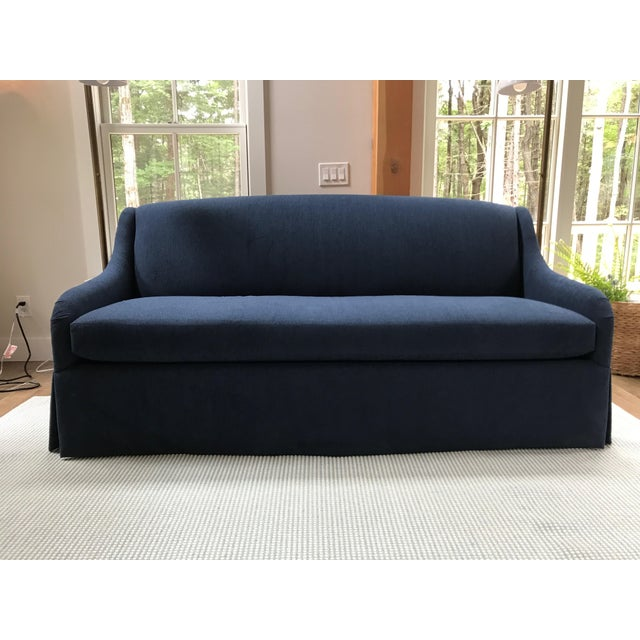 Charles Stewart Bromley Sofa in Indigo Inside/Out Fabric For Sale In Boston - Image 6 of 6
