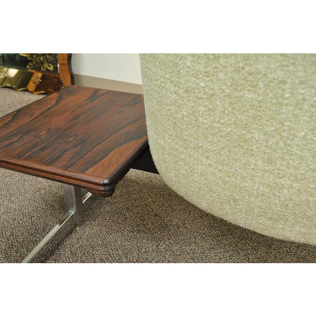 Vintage Mid-Century Danish Modern Rosewood End Tables Club Chairs Sectional Sofa - 2 Piece For Sale - Image 11 of 13