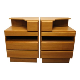 Mid Century Scan Coll Teak Nightstands/Side Table/End Tables - a Pair For Sale