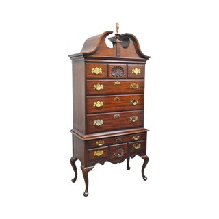 Henkel Harris Mahogany Philadelphia Queen Anne Highboy (B) For Sale
