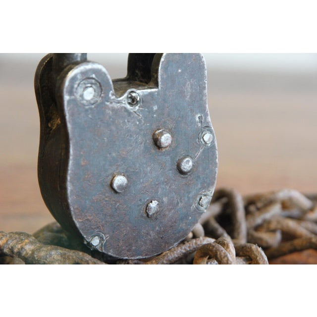 Vintage Padlock & Chain Shackles For Sale - Image 10 of 11