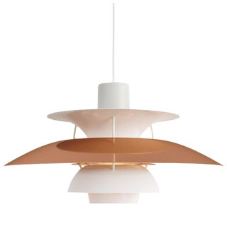 Poul Henningsen PH5 Mini Copper Pendant for Louis Poulsen For Sale