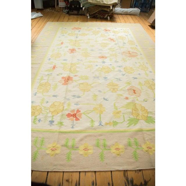 """Vintage Minimalist Dhurrie Carpet - 8'9"""" X 11'10"""" - Image 10 of 10"""