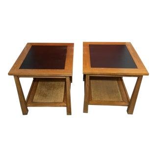 A. Brandt Ranch Oak Lamp Tables - a Pair
