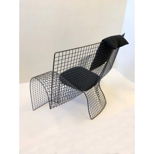 Memphis Steel Mesh Chair by D'Urbino Lomazzi for Zerodesigno For Sale In Palm Springs - Image 6 of 11