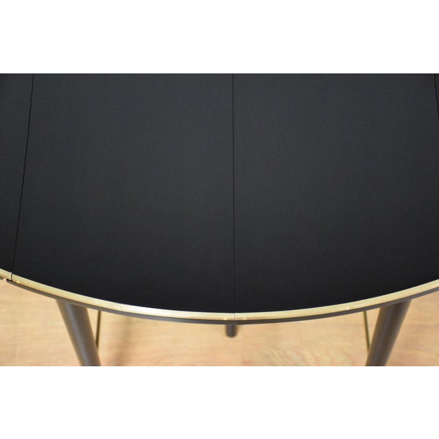 1950s Paul McCobb Black Lacquer and Brass Dining Table For Sale - Image 5 of 11