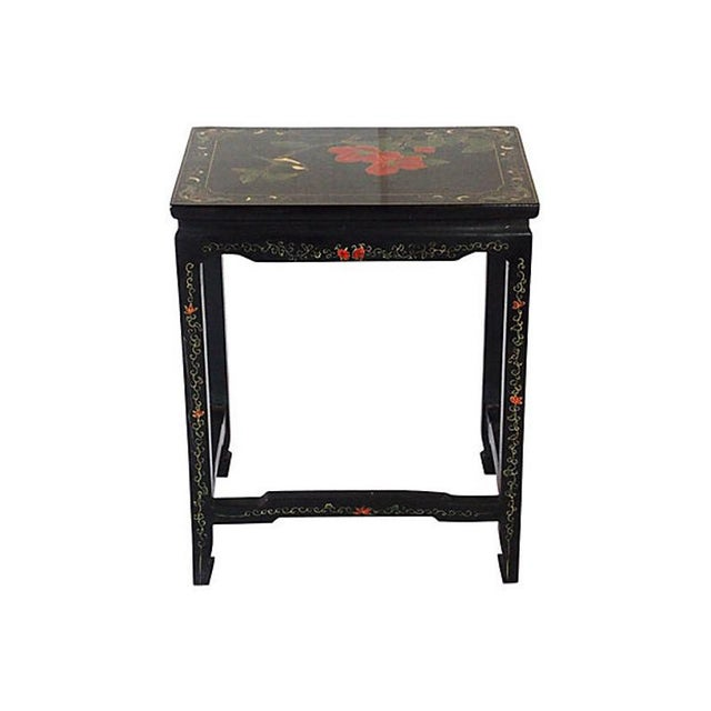 1970s 1970s Asian Lacquered Nesting Tables - a Pair For Sale - Image 5 of 8