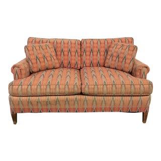 Vintage Fairington Tribal Upholstered Settee