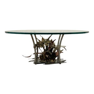 Silas Seandal Studio Brutalist Bloom Welded Bronze, Steel, & Copper Coffee Table For Sale