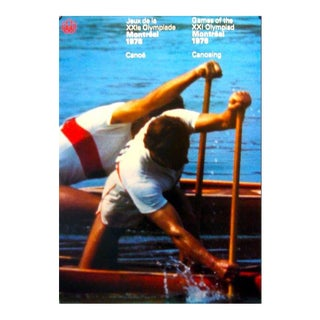 1976 Montreal Olympics Poster, Canoeing (Large) - Cojo For Sale