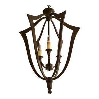 Currey & Co. Bronze Protocol Chandelier For Sale