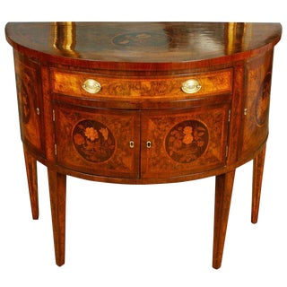 Late 19th Century Vintage Italian Demilune Table For Sale