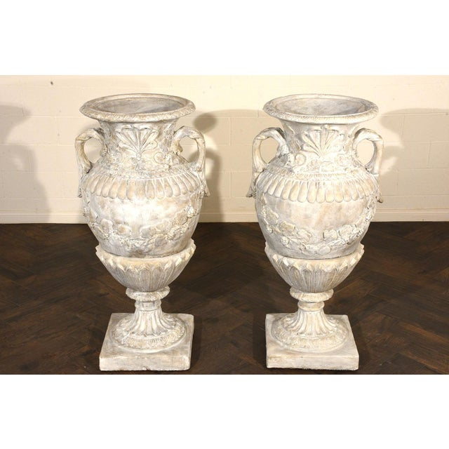 Pair of Grand Neoclassical-style Patio Urns - Image 4 of 10