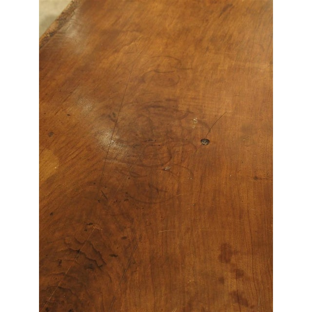 Italian Antique Walnut Refectory Table From Tuscan Mountain Region C. 18th Century For Sale - Image 3 of 13