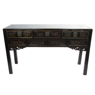 Antique Chinese Black Writing Desk For Sale