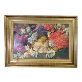Image of Early 20th Century Antique Piet Mondrian Rhododendron New York Graphic Society Textured Print on Canvas For Sale
