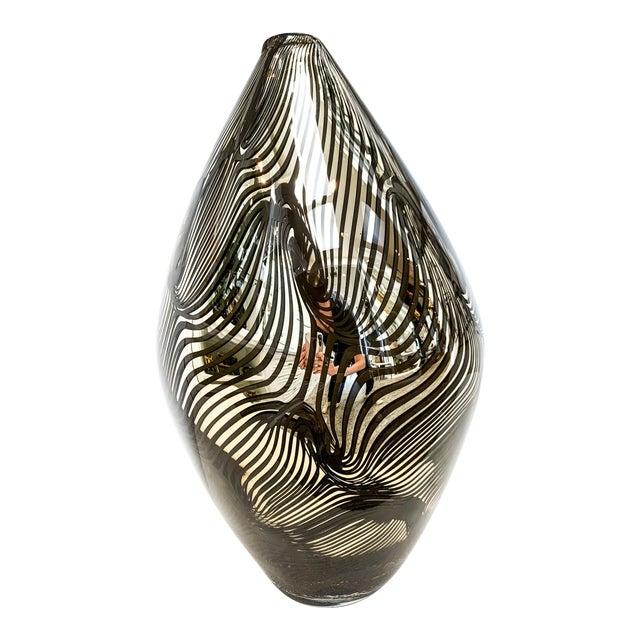 21st Century Murano 24k Gold Giungla Italian Vase by Dona For Sale