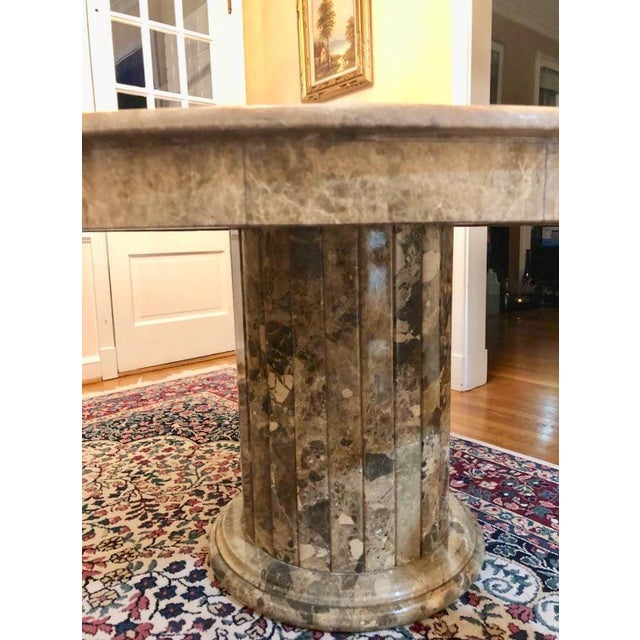 Stone Mid 20th Century Mid-Century Round Marble Dining Table For Sale - Image 7 of 13