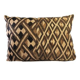 "Old African Fine Kuba Kasai Lumbar Pillow 21.5"" by 15.5"" For Sale"