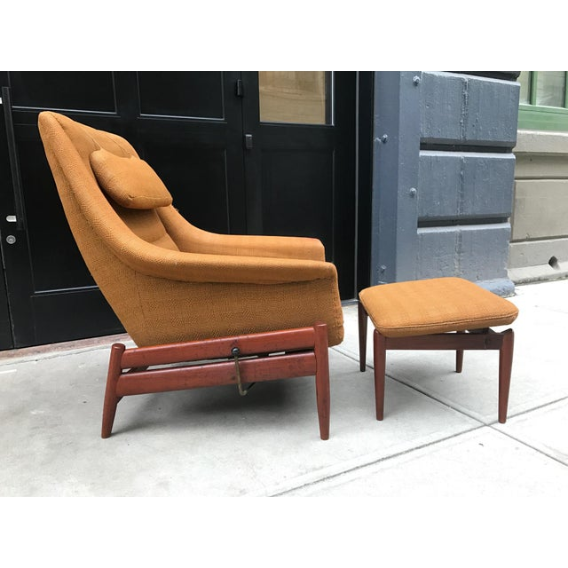 exceptional povl dinesen danish modern lounge chair and ottoman decaso