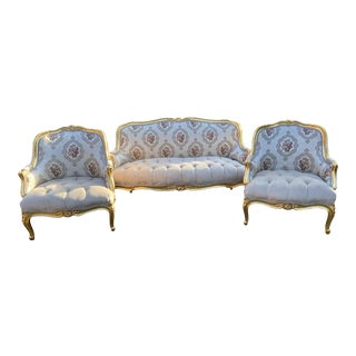 Vintage 1940's French Louis XVI Living Room Set - 3 Pieces For Sale