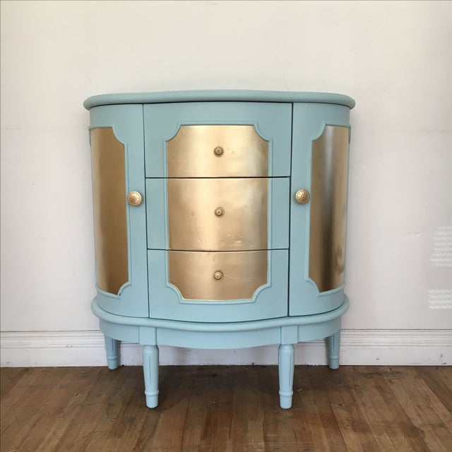 Demilune Console Table or Storage Cabinet - Image 2 of 9