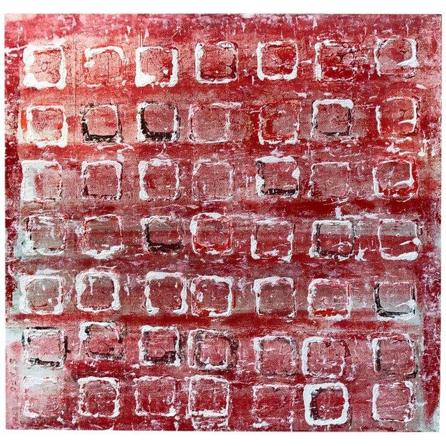 "John Szabo ""Squares Iii"" Acrylic Painting on Panel For Sale"