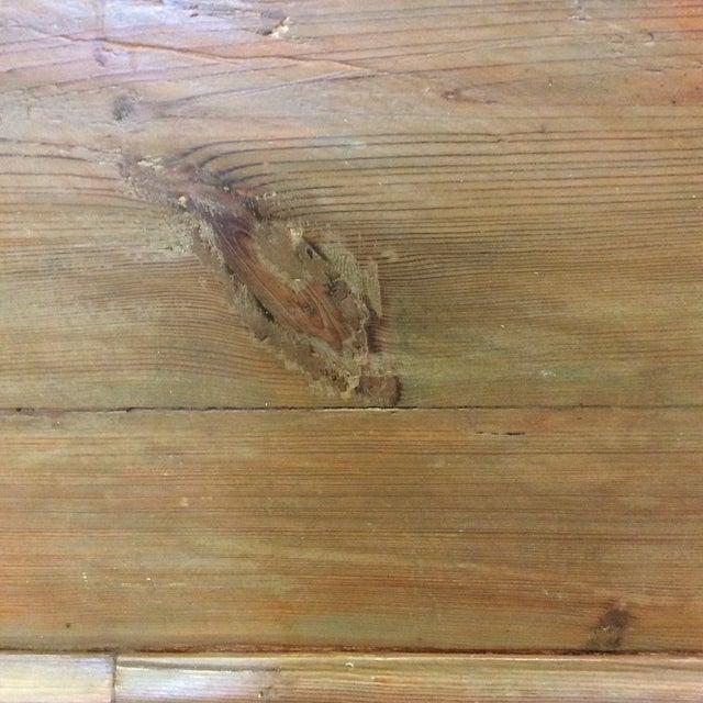 High Back Pickled Wood Bench For Sale - Image 10 of 12